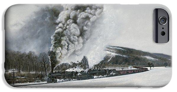 Train iPhone 6s Case - Mount Carmel Eruption by David Mittner
