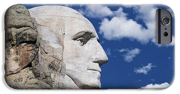 George Washington iPhone 6s Case - Mount Rushmore Profile Of George Washington by Tom Mc Nemar