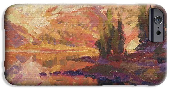 Contemporary Realism iPhone 6s Case - Mountain Lake by Steve Henderson
