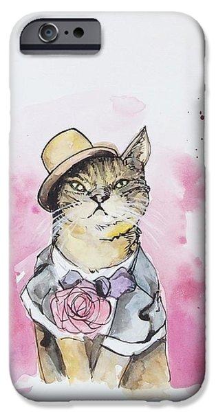 Cat iPhone 6s Case - Mr Cat In Costume by Venie Tee