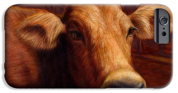 Cow iPhone 6s Case - Mrs. O'leary's Cow by James W Johnson