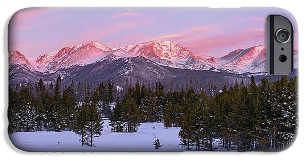 IPhone 6s Case featuring the pyrography Mummy Range Winter Sunrise by Aaron Spong