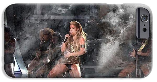 Shakira iPhone 6s Case - Music 5513 by Jani Heinonen