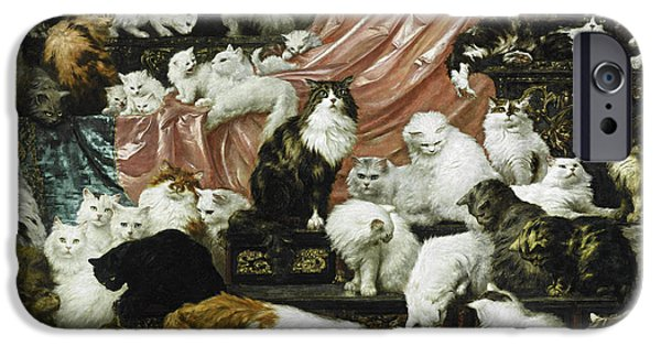 Peach iPhone 6s Case - My Wife's Lovers by Carl Kahler