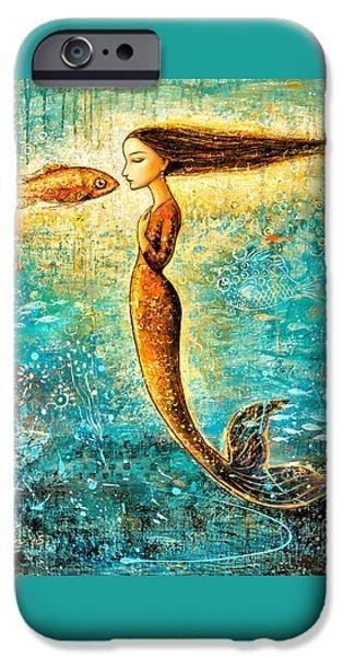 Mermaid iPhone 6s Case - Mystic Mermaid Iv by Shijun Munns