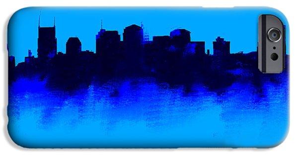 Nashville  Skyline Blue  IPhone 6s Case by Enki Art