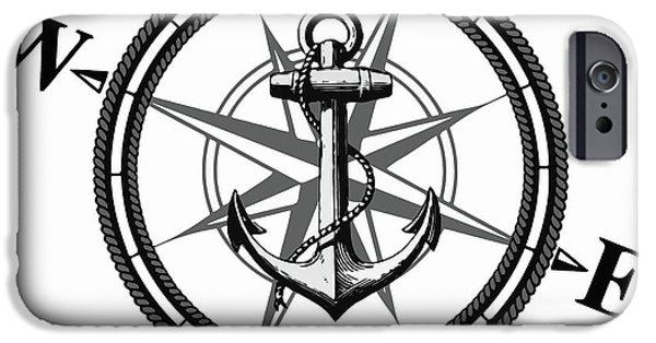 Beach iPhone 6s Case - Nautica Bw by Nicklas Gustafsson