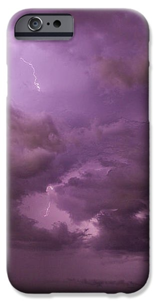 Nebraskasc iPhone 6s Case - Nebraska Night Thunderstorm Beast 001 by NebraskaSC