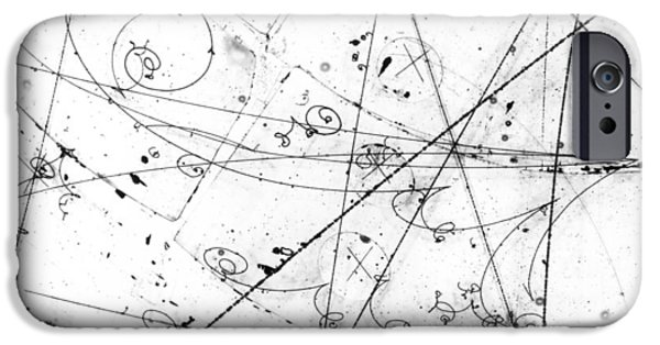 Neutrino Particle Interaction Event IPhone Case by Fermi National Accelerator Laboratory