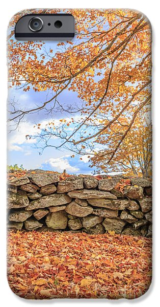New Leaf iPhone 6s Case - New England Stone Wall With Fall Foliage by Edward Fielding