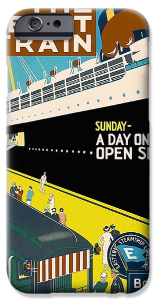Cruise Ship iPhone 6s Case - New The Boat Train - A Day On The Open Sea - Retro Travel Poster - Vintage Poster by Studio Grafiikka
