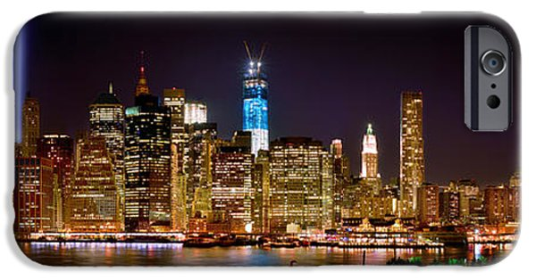 New York City Skyline iPhone 6s Case - New York City Tribute In Lights And Lower Manhattan At Night Nyc by Jon Holiday