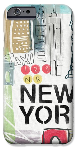 New York Cityscape- Art By Linda Woods IPhone 6s Case by Linda Woods