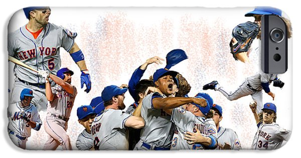 New York Mets iPhone 6s Case - New York Mets 2015  Metropolitan Champions by Iconic Images Art Gallery David Pucciarelli