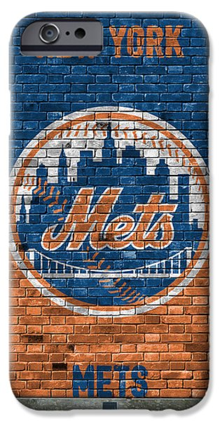 New York Mets iPhone 6s Case - New York Mets Brick Wall by Joe Hamilton