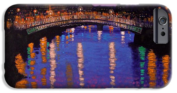 Nighttown Ha Penny Bridge Dublin IPhone Case by John  Nolan