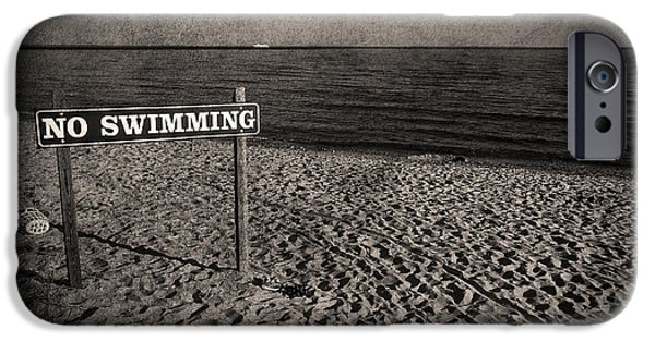 New England Coast iPhone 6s Case - No Swimming by Evelina Kremsdorf