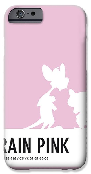 Pig iPhone 6s Case - No01 My Minimal Color Code Poster Pinky And The Brain by Chungkong Art
