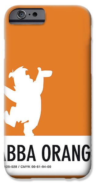 Pig iPhone 6s Case - No04 My Minimal Color Code Poster Fred Flintstone by Chungkong Art