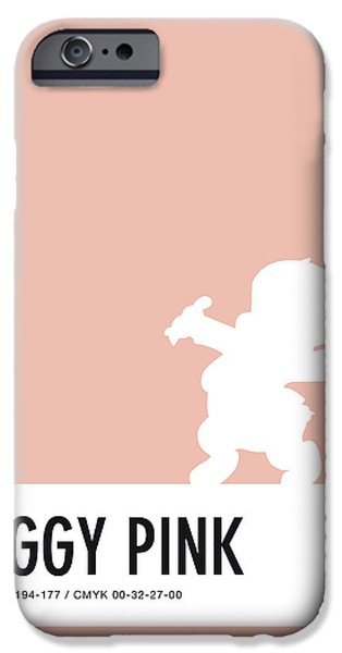 Pig iPhone 6s Case - No17 My Minimal Color Code Poster Porky Pig by Chungkong Art