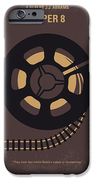 Train iPhone 6s Case - No578 My Super 8 Minimal Movie Poster by Chungkong Art