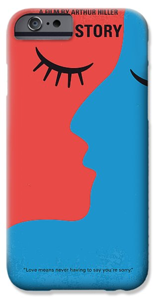 Harvard iPhone 6s Case - No600 My Love Story Minimal Movie Poster by Chungkong Art