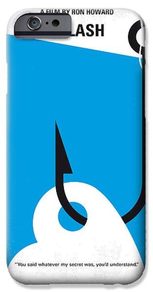 Mermaid iPhone 6s Case - No625 My Splash Minimal Movie Poster by Chungkong Art
