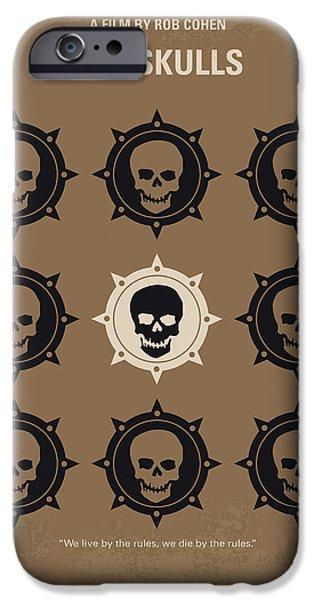 Harvard iPhone 6s Case - No662 My The Skulls Minimal Movie Poster by Chungkong Art