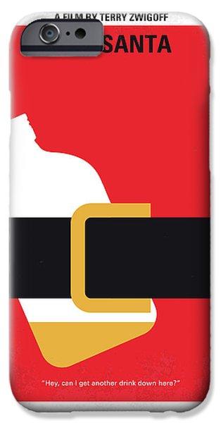 No702 My Bad Santa Minimal Movie Poster IPhone 6s Case by Chungkong Art