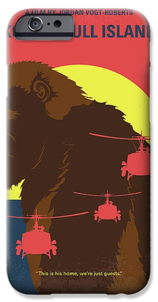 Helicopter iPhone 6s Case - No799 My Skull Island Minimal Movie Poster by Chungkong Art
