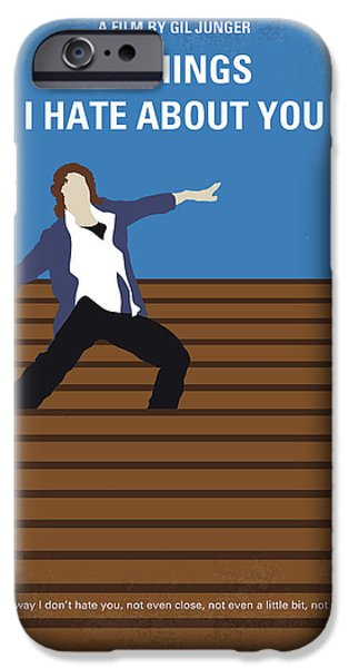 Heath Ledger iPhone 6s Case - No850 My 10 Things I Hate About You Minimal Movie Poster by Chungkong Art