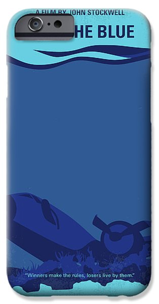 Scuba Diver iPhone 6s Case - No912 My Into The Blue Minimal Movie Poster by Chungkong Art