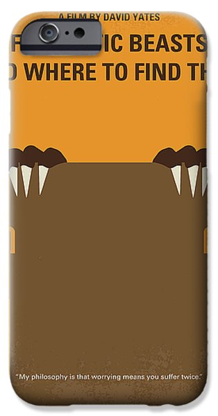 Wizard iPhone 6s Case - No962 My Fantastic Beasts And Where To Find Them Minimal Movie Poster by Chungkong Art