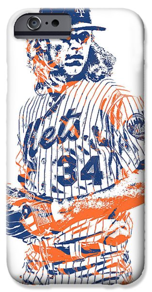New York Mets iPhone 6s Case - Noah Syndergaard New York Mets Pixel Art 1 by Joe Hamilton