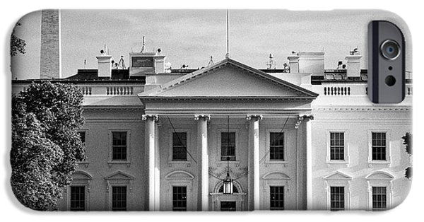 north facade from pennsylvania avenue the white house with washington monument in the background Was IPhone 6s Case by Joe Fox