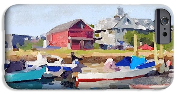 North Shore Art Association At Pirates Lane On Reed's Wharf From Beacon Marine Basin IPhone 6s Case by Melissa Abbott