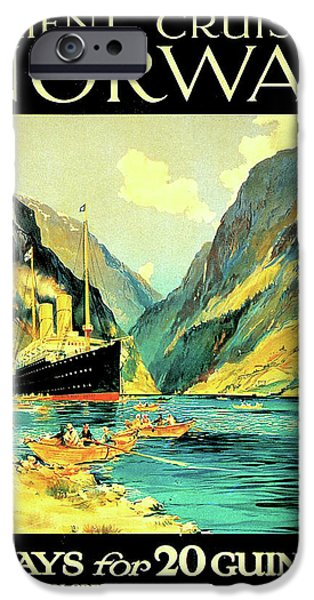 Cruise Ship iPhone 6s Case - Norway Orient Cruises, Vintage Travel Poster by Long Shot