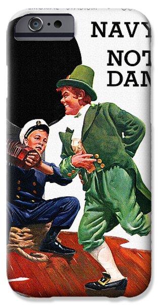 Football iPhone 6s Case - Notre Dame V Navy 1954 Vintage Program by John Farr
