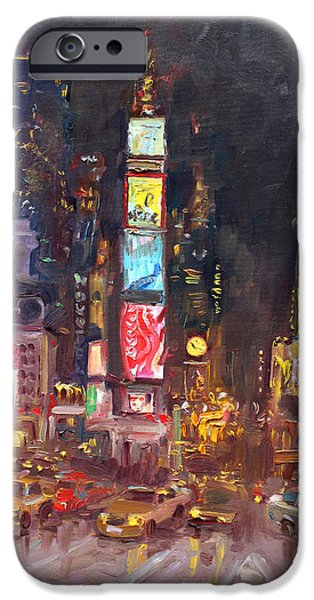 Times Square iPhone 6s Case - Nyc Times Square by Ylli Haruni