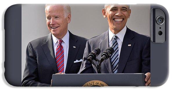 Joe Biden iPhone 6s Case - Obama And Biden by Anna Wilding