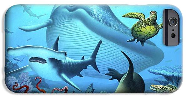 Sharks iPhone 6s Case - Ocean Life by Jerry LoFaro