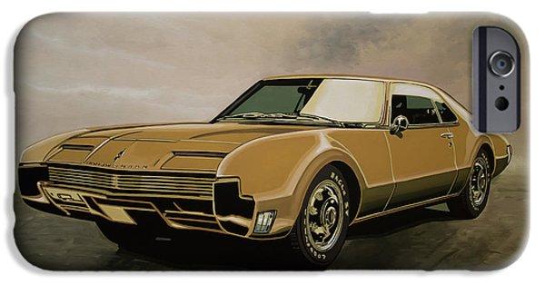 Falcon iPhone 6s Case - Oldsmobile Toronado 1965 Painting by Paul Meijering