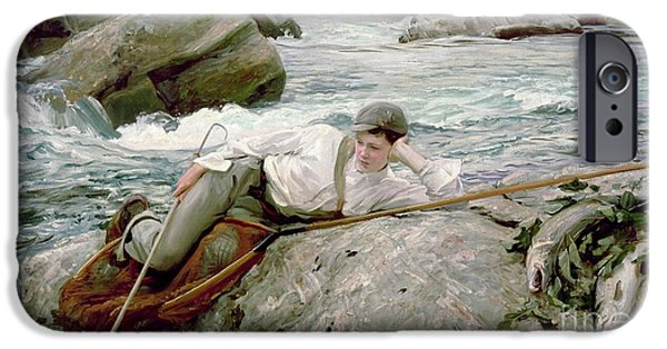 On His Holidays IPhone 6s Case by John Singer Sargent