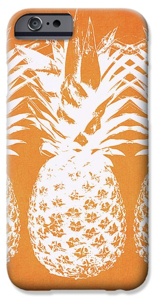 Pineapple iPhone 6s Case - Orange And White Pineapples- Art By Linda Woods by Linda Woods