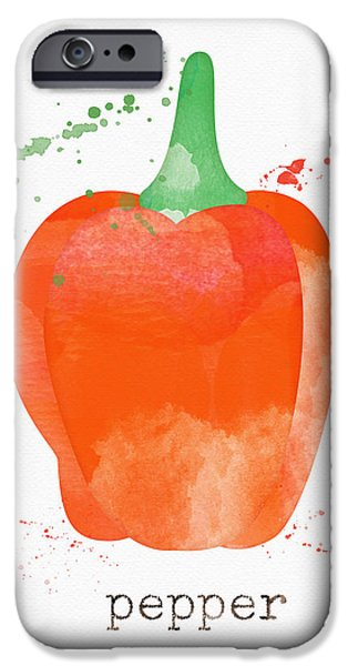 Rural Scenes iPhone 6s Case - Orange Bell Pepper  by Linda Woods