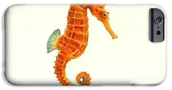 Orange Seahorse IPhone 6s Case
