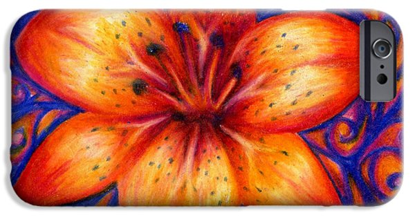 Orange Tiger Lily Drawing IPhone 6s Case