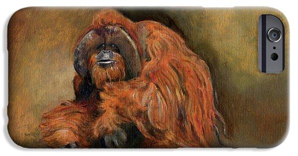 Orangutan iPhone 6s Case - Orangutan Monkey by Juan Bosco