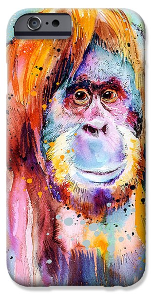 Orangutan  IPhone 6s Case by Slavi Aladjova