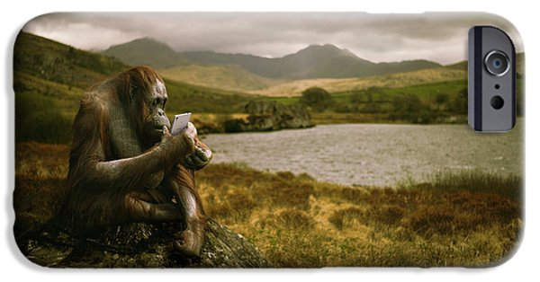 Orangutan With Smart Phone IPhone 6s Case by Amanda Elwell